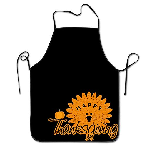 New Shorts Kitchen Apron for Women Art Apron Dress Men Cooking Apron Pinafore Happy Turkey Day Thanksgiving Day Apron 28.3