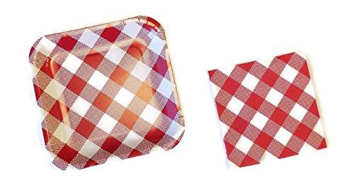 mmer Picknick Teller (14Zählen) und Serviette (28Zählen) Set ()