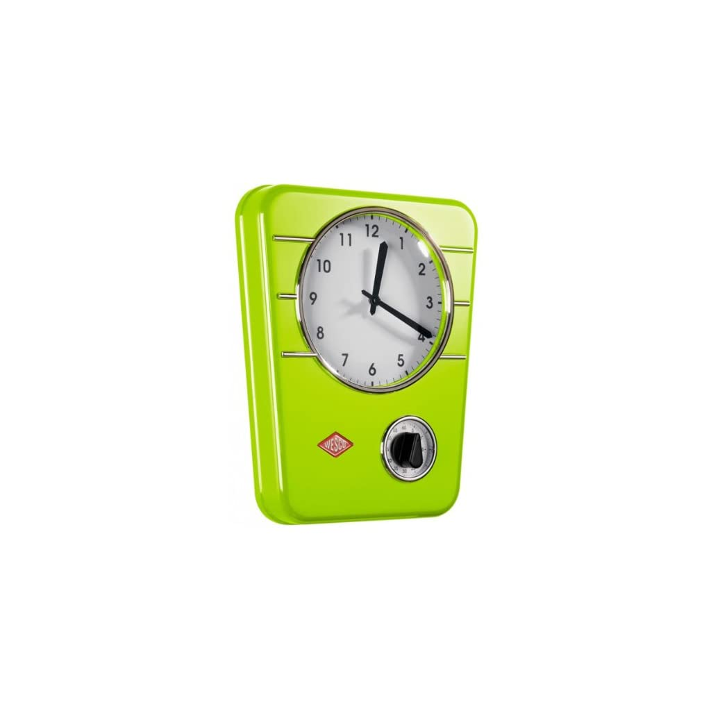 Wesco Classic Line Lime Green Kitchen Clock