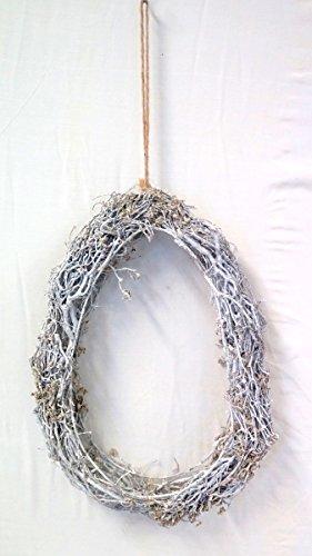 Hänger Kranz Henry, eiform, Osterhänger aus Rattan, 2 verschiedene Größen (klein) (Kranz Band Form)