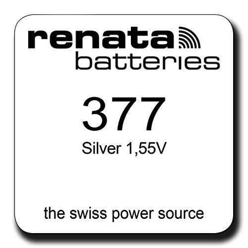 Nouveau pack de Renata SR626SW modèle 377 50 piles oxyde d'argent 1.55V Watch