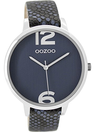 Grosse Oozoo Damenuhr mit Lederband 42 MM