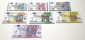 WISSNER® 080620.140 WISSNER - Billetes de 140 Euros para Aprender a Aprender activamente