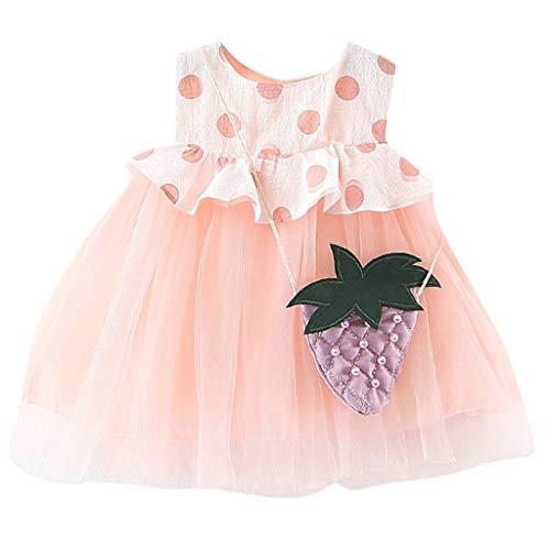 Sommerkleider Mädchen, UFODB Neugeborenes Kids Baby Dot Tulle Patchwork Tutu Sommer Fest Kleid Sommerkleid Festkleid Beach Für 0-2Jahres (Vintage Halloween-masken Kaufen)