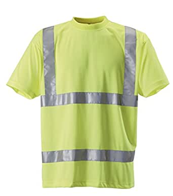 Baratec work wear high visibility hi vis yellow t shirt for Hi vis t shirt printing