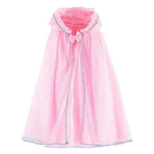 Kostüm Kleinkind Rosa Elefant - DIASTR Kinder Langarm Prinzessin Mädchen Kostüm Cosplay Phantasie Party Hochzeitskleid Cape Performance Kostüm Cosplay Rock Kleinkind Kleider Outfits Kleidung 3-12 Jahre alt