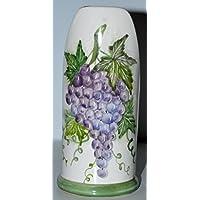 Porta-bicchieri grandi Linea Uva / Bordo Verde - Handmade - Le Ceramiche del Castello - 100% Made in Italy
