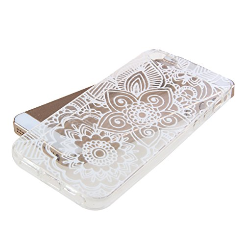 iPhone 4S Hülle, iPhone 4 Hülle, iPhone 4 / 4S Silikon Crystal Case Hülle mit Malerei Muster, SainCat Weiche Transparent Silikon Schutzhülle Hülle Gel Bumper Soft TPU Case Backcase Weiches Crystal Cle angel Blume
