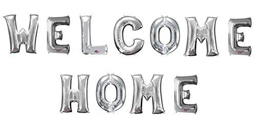"Preisvergleich Produktbild Buchstaben-Girlande Folienballons ""Welcome Home (Silber)"" - partydiscount24®"