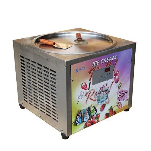45 cm de una sola máquina redonda de la bandeja de hielo máquina frita del rodillo del helado frito...
