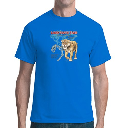 Fun unisex T-Shirt - Urzeit: Säbelzahntiger - Smilodon by Im-Shirt Royal