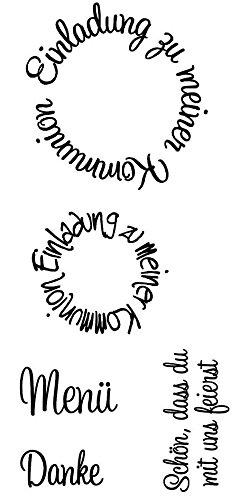 Rayher Stempel Kommunion 1, Silikon, Transparent, 2,04 x 0,8 x 0,06 cm