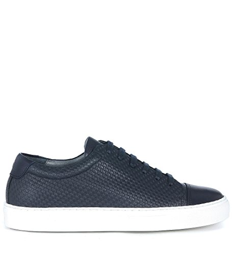 Sneaker National Standard Edition 3 in pelle blu