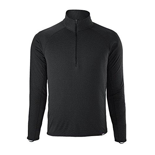 Capilene Shirt Für Herren (Patagonia Cap MW Zip Neck Shirt, Herren M Schwarz)