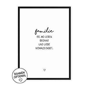 Wunderpixel® Kunstdruck Familie - auf wunderbarem Hahnemühle Papier DIN A4 -ohne Rahmen- schwarz-weißer FineArt-Print Poster zur Wand-Dekoration im Büro/Wohnung/als Geschenk-Idee zum Geburtstag