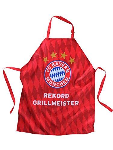 FC Bayern Rekord Grillmeister Raute Schürze 2017 ca. 70 x 85 cm 100 % Polyester