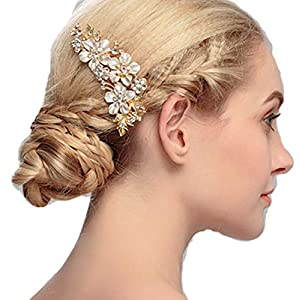 Damen Haarschmuck Haardekoration Haardeko Haarkamm Haarkämme Braut Hochzeit Schmuck Accessoires Kristall Kristallen Design