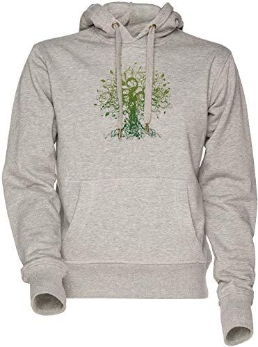 Meditar, Meditación, Espiritual Árbol Yoga Camiseta Unisexo Hombre Mujer Sudadera con Capucha Gris Men's Women's Hoodie Sweatshirt Grey
