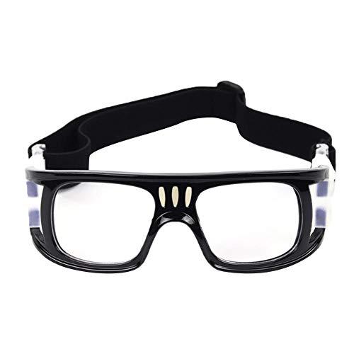 Bulrusely Sportbrille, Outdoor-Brille, Sportbrille, stoßfest, stoßfest, Fußballbrille, Schutzbrille, Motorradbrille für Männer und Frauen, Unisex C