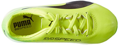 Puma Unisex-Kinder Evospeed 17.4 Fg Jr Fußballschuhe Gelb (safety yellow-puma black-green gecko 01)