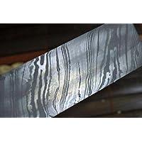 Perkin Knives - Placa de acero de Damasco para elaboración de cuchillos, 254 x 38 x 4 mm, 200 capas