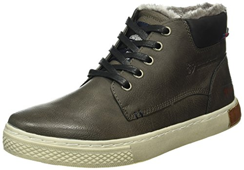 Tom Tailor 1685002, Sneakers Hautes Homme Gris (Coal)