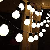 RaajaOutlets Plastic Frosted Globe Indoor Outdoor 20 LED Big Bulb Fairy String Lights