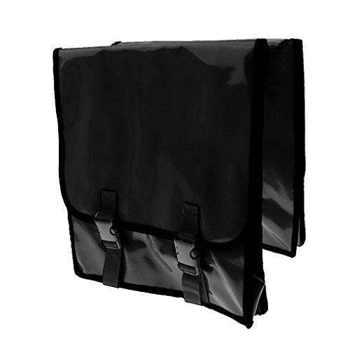 Wasserfest Fahrrad Doppel-Seite Gepäckträger Pannier, Hochwertig, Praktisch und Hohe Qualität Schwarz