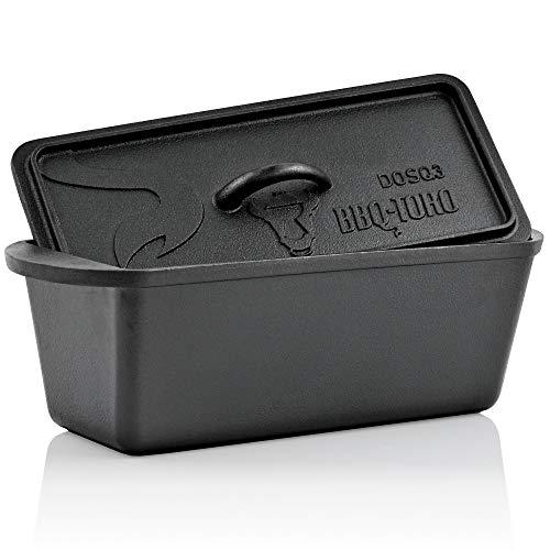 BBQ-Toro Dutch Oven Brotbacktopf I Gusseisen Kochtopf Gusstopf I 3,0 Liter I preseasoned - bereits eingebrannt I Bräter mit Deckel I DOSQ3 Backtopf