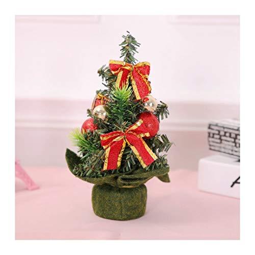 WUFANGFF Mini Weihnachtsbaum Weihnachten Desktop Ornamente Weihnachtsbaum Dekorationen (22 cm), Grün Tuch Baum Bug 22 cm Bug Cookie Cutter