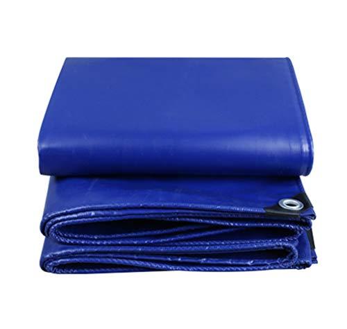 JHNEA Heavy Duty Bâche étanche, Multi Purpose résistant aux UV/Usure Proof Poly Tarp, PVC Durable Couteau Chiffon avec œillets, Bleu, 3x3m