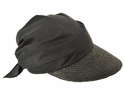 Für Sommer Schwarz Frauen Hüte (Seeberger Damen Schirmmütze Serie Rügen, Schwarz (Schwarz 0010), 57 cm (Herstellergröße: One Size))