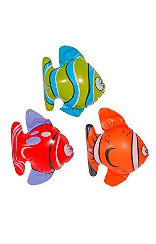 Kostüm Meerestiere Unterwasser - Horror-Shop Farbige Fischchen aufblasbar