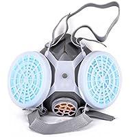 SDGDFXCHN Doble Anti-Polvo de Gas máscara de respirador de Doble química Spray de Seguridad Sombreros