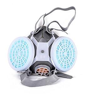 LEACK Dual Anti-Staub-Atemschutzmaske Gasmaske Doppel Chemische Sprühfarbe Sicherheit Headwear