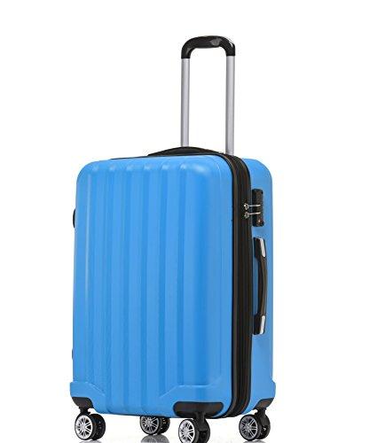 BEIBYE TSA-Schloß 2080 Hangepäck Zwillingsrollen neu Reisekoffer Koffer Trolley Hartschale Set-XL-L-M(Boardcase) in 12 Farben (Türkis, L-Mittlerer Koffer(65...