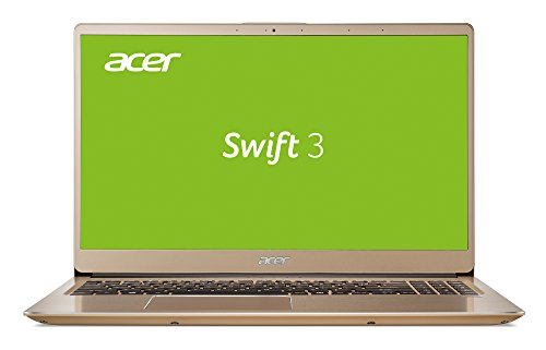 Acer Swift 3 (SF315-52G-855Z) 39,6 cm (15,6 Zoll Full-HD IPS matt) Ultrabook (Intel Core i7-8550U, 16 GB RAM, 256 GB SSD + 1.000 GB HDD, NVIDIA GeForce MX150, Win 10 Home) gold