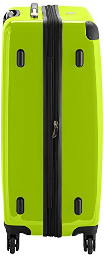 HAUPTSTADTKOFFER - Alex - Hartschalen-Koffer Koffer Trolley Rollkoffer Reisekoffer Erweiterbar, 4 Rollen, 75 cm, 119 Liter, Apfelgrün - 3