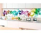DIMEX LINE Küchenrückwand Folie selbstklebend Rauch 350 x 60 cm | Klebefolie - Dekofolie - Spritzchutz für Küche | Premium QUALITÄT