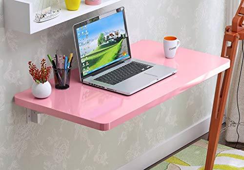 QARYYQ Klappbare Tischklavierfarbe laubwechselnde Tischwand, die Laptoptabelle speist Klapptisch (Color : Pink, Size : 80x40cm) - Pink Kaffee-tisch-bücher