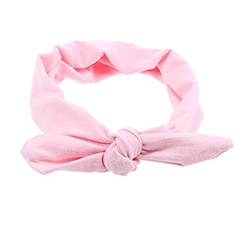 SZTARA Adults Vintage Headband Elastic Cotton Cute Rabbit Ear Bow Style Hairband Twisted Hair DIY Accessory Pink