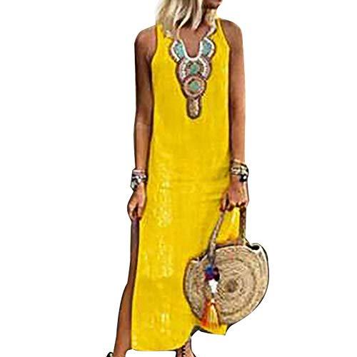 f6ad69398c5 Vestido Mujer Verano Flojo Casual Largo Liso Tunica
