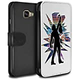 Stuff4 Coque/Etui/Housse Cuir PU Case/Cover pour Samsung Galaxy A3 (2016) / Atteindre Blanc Design / Rock Star Pose Collection