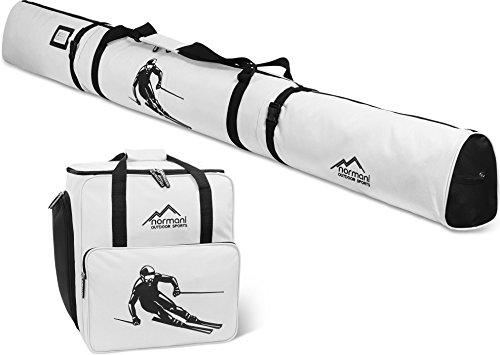 normani Skiset Kombiset Skitasche und Skischuhtasche 170 cm und 200 cm Farbe Weiß Größe 170 cm -