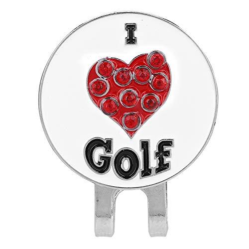 Mootea Golf Hut Clip, Durable Metall Golf Mini Magnetic Ball Marker Golfer Hut Visier Clip Zubehör Golf Hut Dekoration Geschenk für Golfer -