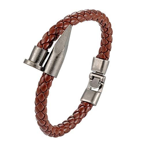 MHOOOA Mode Lederarmband Männer Armband Frauen Armreif Einfache Schnalle Schmuck Geschenk Pulseiras Masculina 1226 Crystal