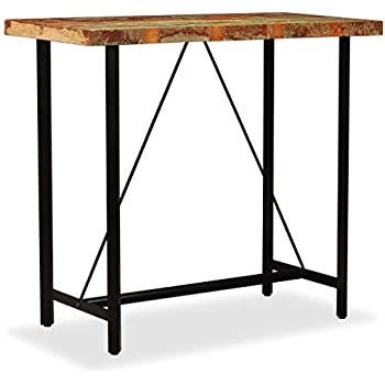 4756864b76ebe Yelloo Table de bar rectangulaire et 4 tabourets marron mod. FIRENZE ...
