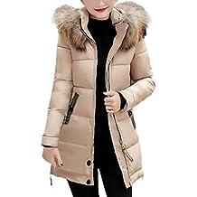 e422d8747e799 Lanceyy Abrigo Acolchado Mujer Largos Invierno Elegantes Moda Espesar  Caliente Plumas S
