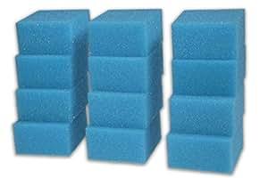 LTWHOME Excellent Mousseux Filtration Tapis Pour Aquarium Convient Juwel Compact (paquet de 12)