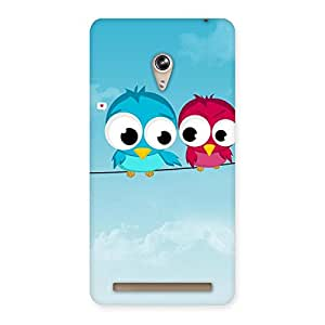 Delighted Birds on Wire Back Case Cover for Zenfone 6